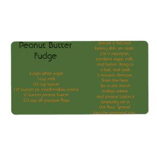 Peanut Er Fudge Ii Label
