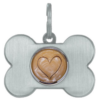 Peanut Butter Heart Pet Tag