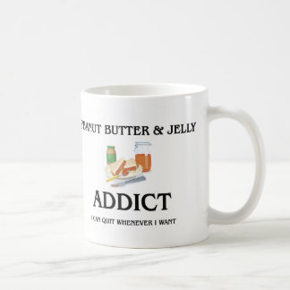Peanut Butter & Jelly Addict Coffee Mug
