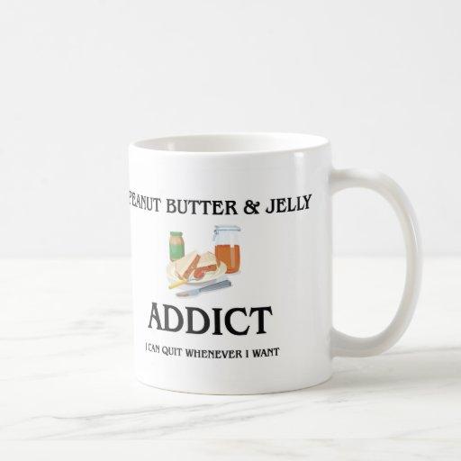 Peanut Butter & Jelly Addict Classic White Coffee Mug