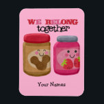 """Peanut Butter &amp; Jelly Magnet<br><div class=""""desc"""">Cute little jars of peanut butter and jelly make the perfect pair.</div>"""