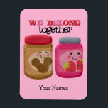 "Peanut Butter &amp; Jelly Magnet<br><div class=""desc"">Cute little jars of peanut butter and jelly make the perfect pair.</div>"