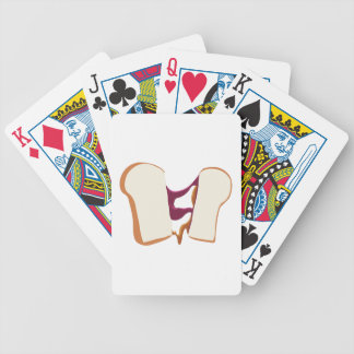 Peanut Butter Jelly Sandwich Bicycle Poker Cards
