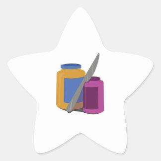 Peanut Butter & Jelly Star Sticker