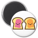 Peanut Butter Jelly Time! 2 Inch Round Magnet