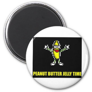 Peanut Butter Jelly Time 2 Inch Round Magnet