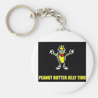 Peanut Butter Jelly Time Basic Round Button Keychain