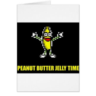Peanut Butter Jelly Time Card