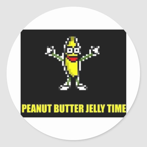 Peanut Butter Jelly Time Classic Round Sticker