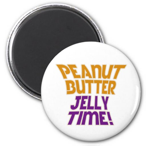 Peanut butter jelly time fridge magnets