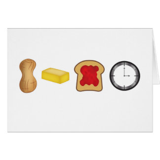 Peanut Butter Jelly Time Horizontal Card