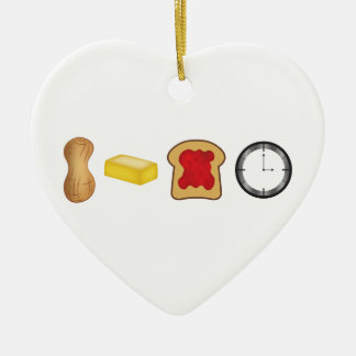 Peanut Butter Jelly Time Horizontal Ceramic Ornament