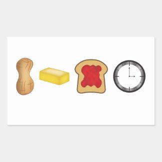 Peanut Butter Jelly Time Horizontal Rectangular Sticker