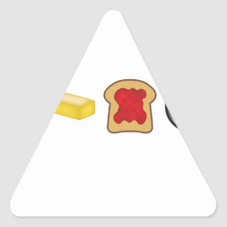 Peanut Butter Jelly Time Horizontal Triangle Sticker