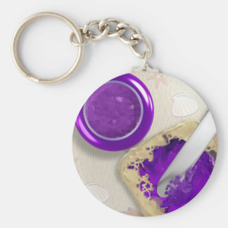 Peanut Butter Jelly Time Keychain