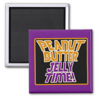 Peanut butter jelly time 2 inch square magnet