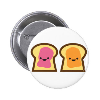 Peanut Butter Jelly Time! Pinback Button