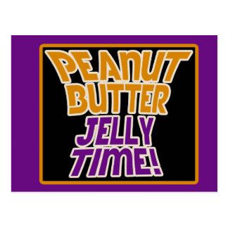 Peanut butter jelly time postcard