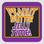 Peanut butter jelly time square sticker