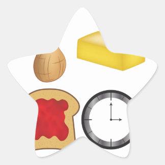 Peanut Butter Jelly Time! Star Sticker