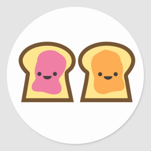 Peanut Butter Jelly Time! Stickers