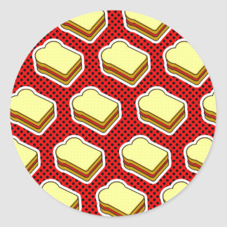 Peanut Butter Jelly Time - Strawberry Jelly Round Stickers