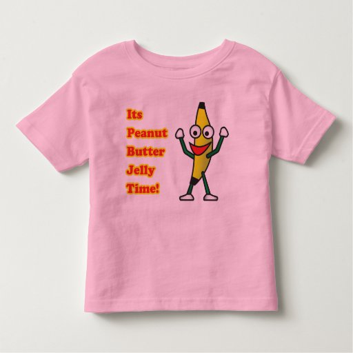 Peanut butter jelly time toddler t shirt zazzle for Peanut butter t shirt dress
