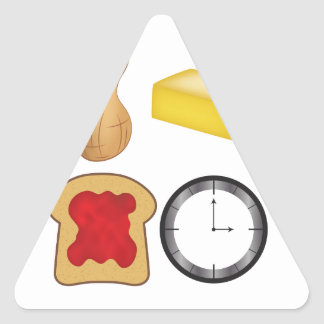 Peanut Butter Jelly Time! Triangle Sticker