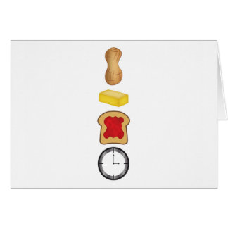 Peanut Butter Jelly Time Vertical Card