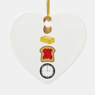Peanut Butter Jelly Time Vertical Ceramic Ornament