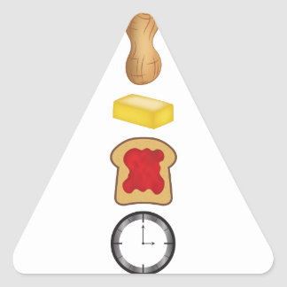 Peanut Butter Jelly Time Vertical Triangle Sticker