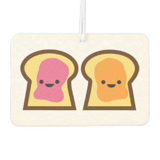 Peanut Butter & Jelly Toast Car Air Freshener