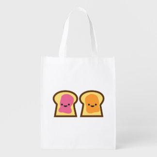 Peanut Butter & Jelly Toast Friends Reusable Bag
