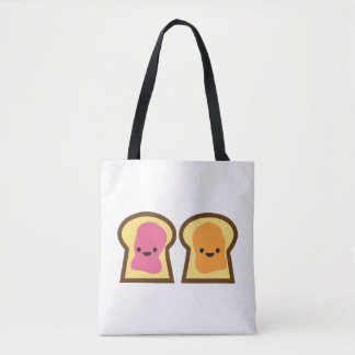 Peanut Butter & Jelly Toast Friends Tote Bag