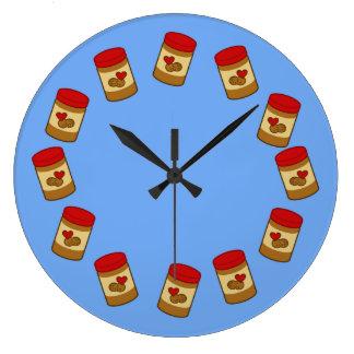 Peanut Butter Large Clock