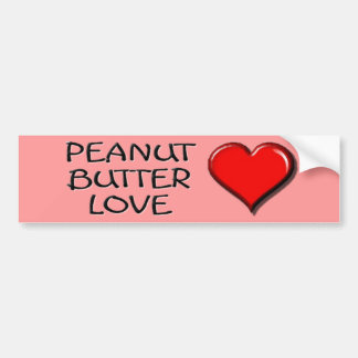 Peanut Butter Love Bumper Sticker