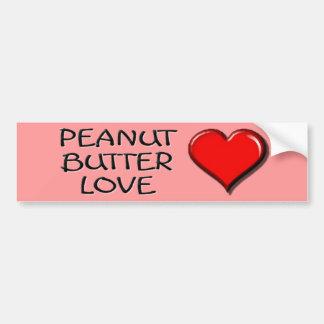 Peanut Butter Love Bumper Stickers