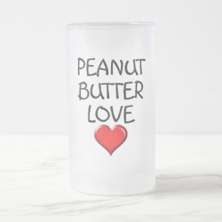 Peanut Butter Love Frosted Glass Beer Mug