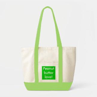 Peanut butter love! tote bag