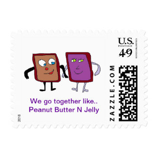 peanut butter N jelly stamp