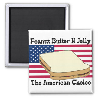 Peanut Butter N Jelly the American Choice Refrigerator Magnets