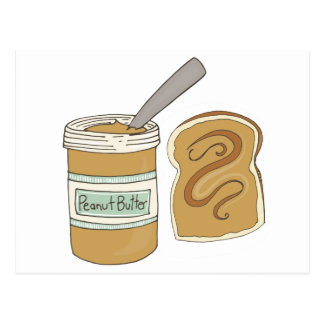 Peanut Butter On Bread Post Card