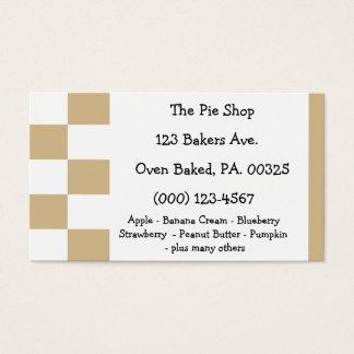 Peanut Butter Pie Colors Business Card
