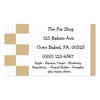 Peanut Butter Pie Colors Double-Sided Standard Business Cards (Pack Of 100)