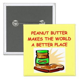 peanut butter pinback button
