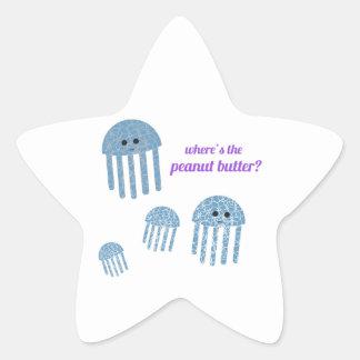 Peanut Butter Star Sticker