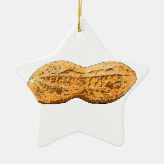 peanut ceramic ornament