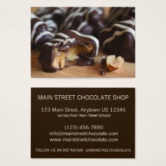 Peanut Cluster Chocolatier Chocolate Candy Shop Business Card