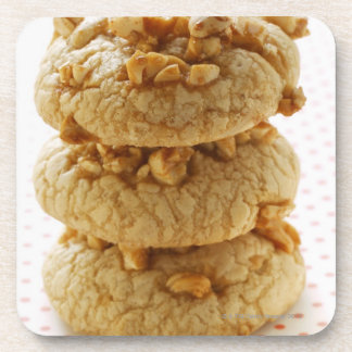 Peanut cookies in a pile drink coaster