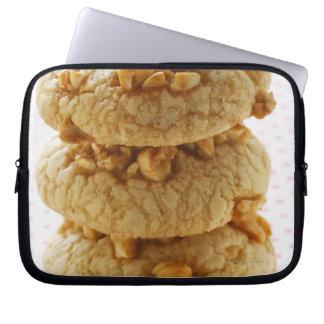 Peanut cookies in a pile laptop sleeve